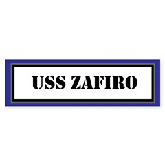 USS Zafiro Sticker (Bumper)
