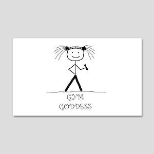 Gym Goddess: 22x14 Wall Peel