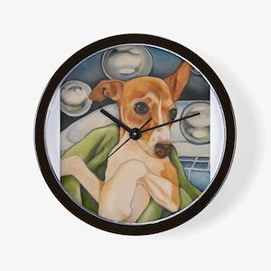 Italian Greyhound Puppy Bath Wall Clock