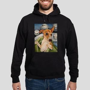 Italian Greyhound Puppy Bath Hoodie (dark)