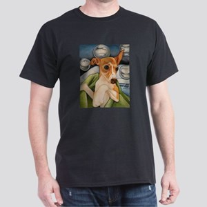 Italian Greyhound Puppy Bath Dark T-Shirt