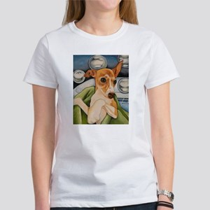 Italian Greyhound Puppy Bath Women's T-Shirt