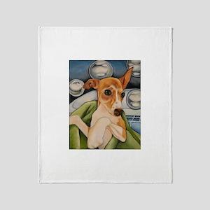 Italian Greyhound Puppy Bath Throw Blanket