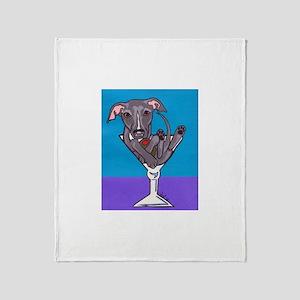 Italian Greyhound Martini Throw Blanket