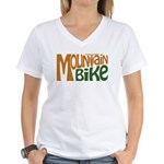 Mountain Bike Women's V-Neck T-Shirt