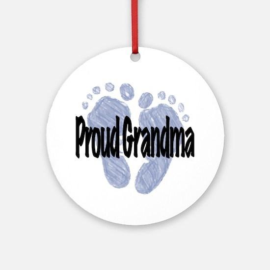 Proud Grandma (Boy) Ornament (Round)