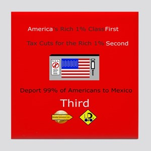 America First Tile Coaster