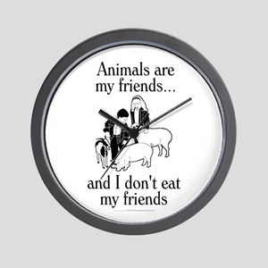 Animals are my friends Wall Clock