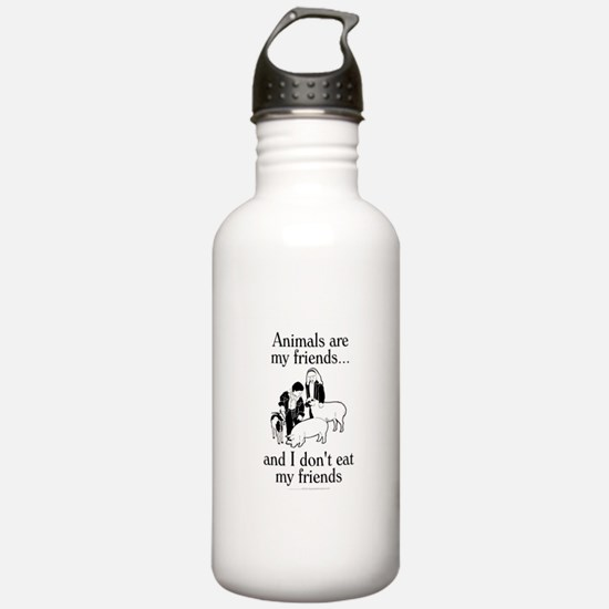 Animals are my friends Water Bottle