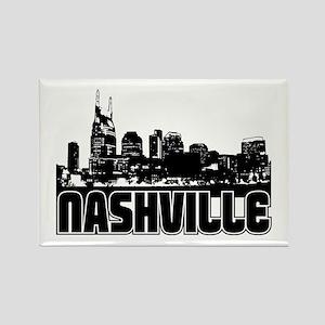 Nashville Skyline Rectangle Magnet