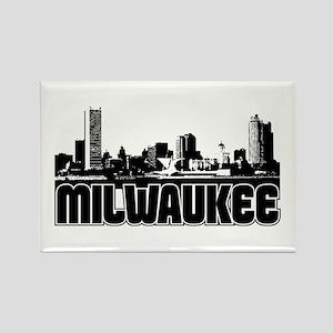 Milwaukee Skyline Rectangle Magnet