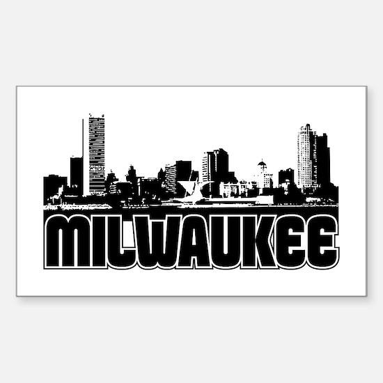 Milwaukee Skyline Sticker (Rectangle)