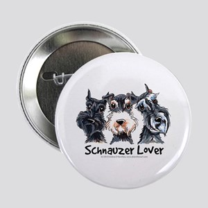 "Miniature Schnauzer Lover 2.25"" Button"