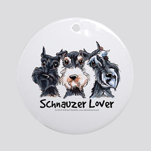 Miniature Schnauzer Lover Ornament (Round)