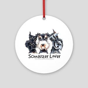 Miniature Schnauzer Lover Ornament (Round)