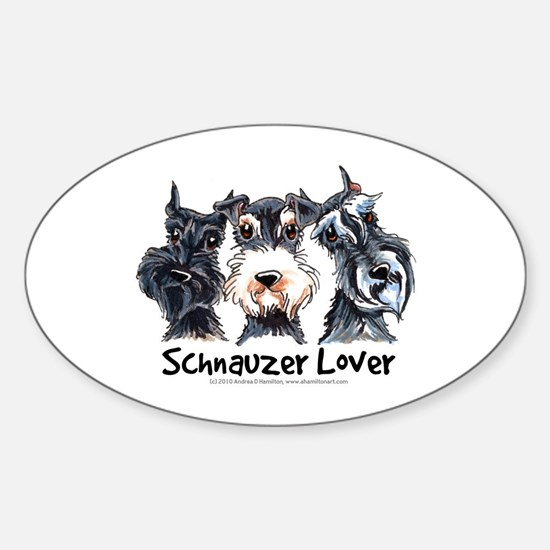 Miniature Schnauzer Lover Sticker (Oval)