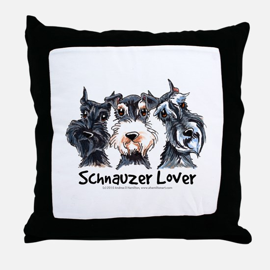 Miniature Schnauzer Lover Throw Pillow