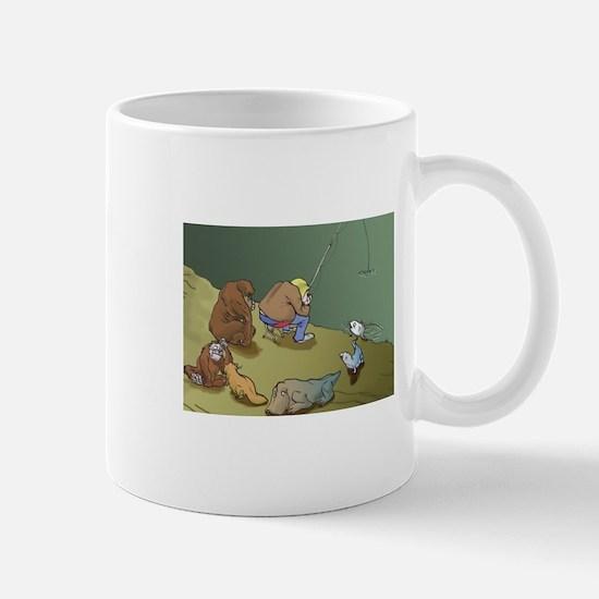 Unique Jesus darwin fish kiss evolution god Mug