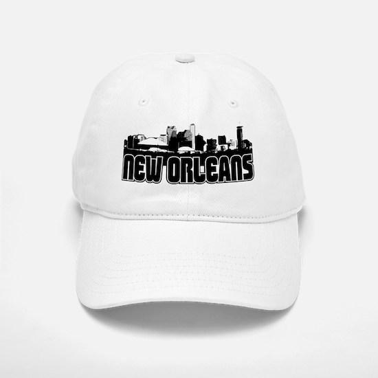 New Orleans Skyline Baseball Baseball Cap