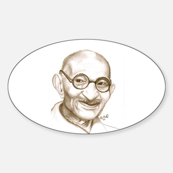 Ghandi Sticker (Oval)