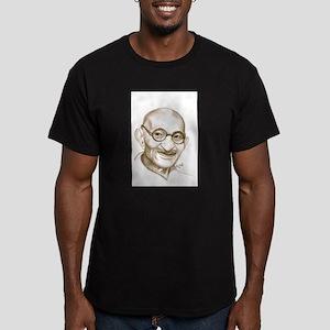 Ghandi Men's Fitted T-Shirt (dark)