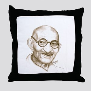 Ghandi Throw Pillow