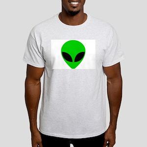 """Alien Head"" Ash Grey T-Shirt"