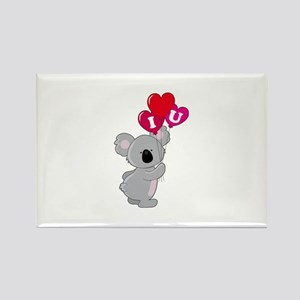 Koala Loves You Rectangle Magnet