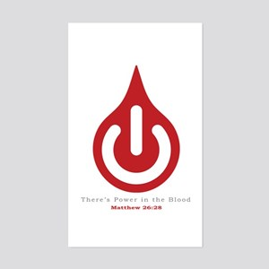 Power in the Blood Sticker (Rectangle)