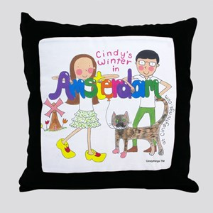 Cindy in Amsterdam Group Throw Pillow