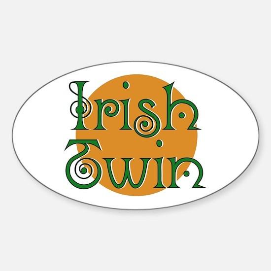 Irish Twin Oval Decal