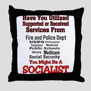 Socialist Throw Pillow