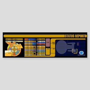 Star Trek LCARS Status Repo Sticker (Bumper 10 pk)