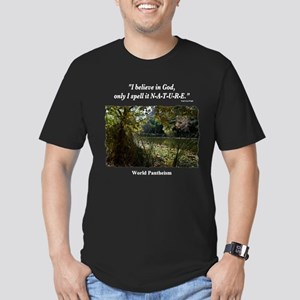 """I Believe In God"" Men's Fitted T-Shirt (dark)"