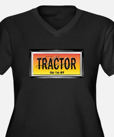 Love Tractor Women's Plus Size V-Neck Dark T-Shirt