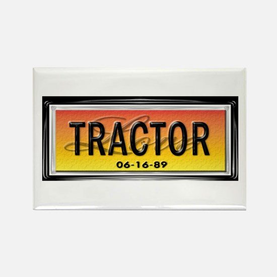 Love Tractor Rectangle Magnet