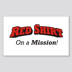 Red / On a Mission Sticker (Rectangle)
