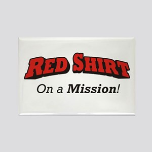 Red / On a Mission Rectangle Magnet