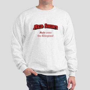 Red Shirt / Klingons Sweatshirt