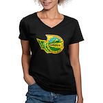 USS BREMERTON Women's V-Neck Dark T-Shirt