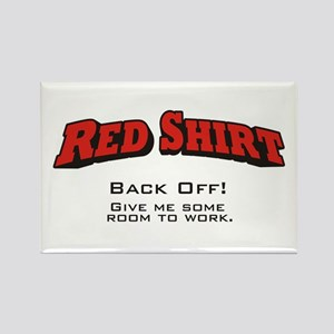 Red Shirt / Back Off Rectangle Magnet