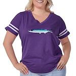 Jacksmelt Women's Plus Size Football T-Shirt