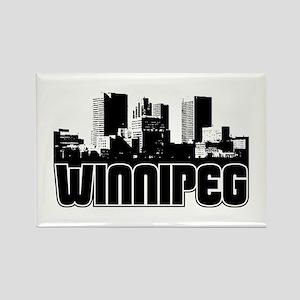 Winnipeg Skyline Rectangle Magnet
