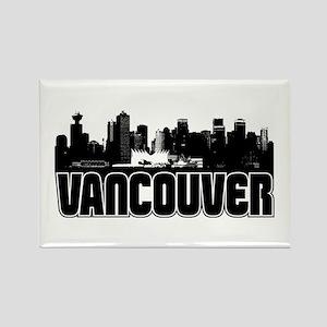 Vancouver Skyline Rectangle Magnet
