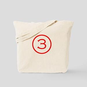Number 3 Helvetica Tote Bag