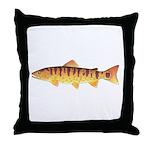 Masu Salmon Cherry Trout Throw Pillow