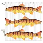 Masu Salmon Cherry Trout Shower Curtain