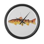 Masu Salmon Cherry Trout Large Wall Clock