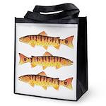 Masu Salmon Cherry Trout Reusable Grocery Tote Bag