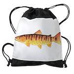 Masu Salmon Cherry Trout Drawstring Bag